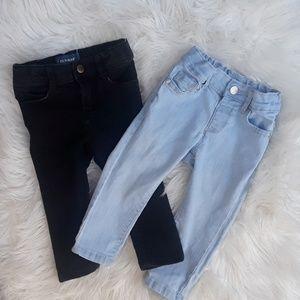 Baby girl skinny jeans bundle 18-24 months